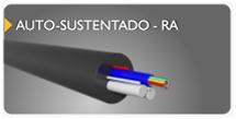cabo de fibra óptica auto sustentado RA