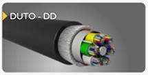 cabo de fibra óptica duto