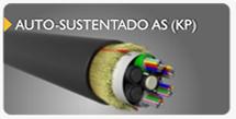 cabo de fibra óptica auto sustentado AS KP