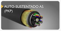 cabo de fibra óptica auto sustentado AS PKP
