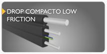 cabo de fibra óptica drop compacto