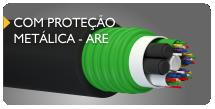 cabo de fibra óptica com proteção metálica ARE